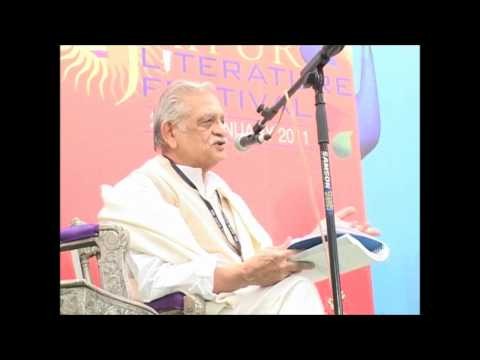 Gulzar Live reciting his poems at Jaipur Literary Fest 2012 - Jaipur Rajasthan India