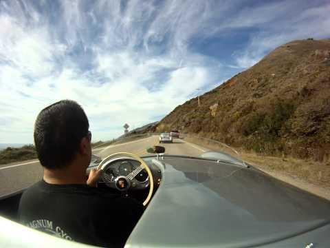 Porsche 550 Spyder on the Pacific Coast Highway