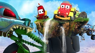 Haunted Island | Haunted House Monster Truck | Car Cartoons For Kids