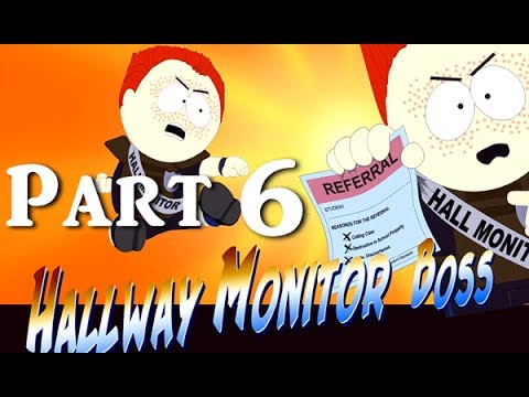 South Park: The Stick Of Truth Gameplay Walkthrough Part 6 - Hallway Monitor Boss