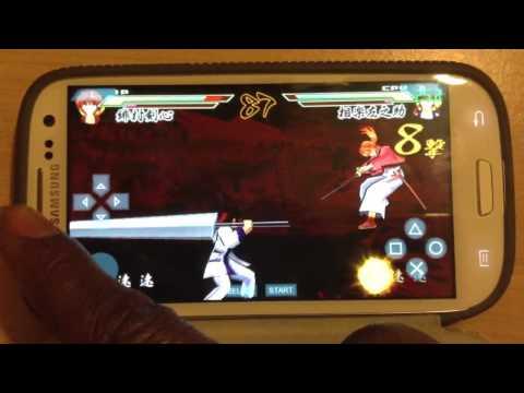 Ppsspp rurouni kenshin psp gameplay on galaxy s3
