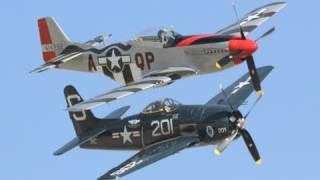 2010 Jacqueline Cochran Air Show - F8F Bearcat & P-51 Mustang