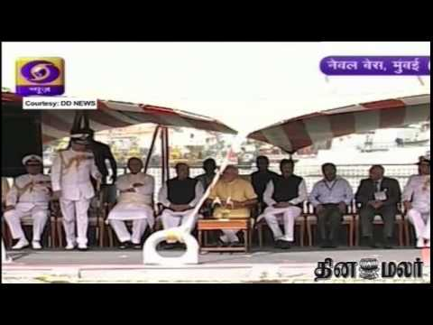 Prime Minister Narendra Modi commissions INS Kolkata, India's biggest naval destroyer