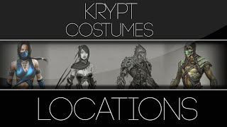 Mortal Kombat X Krypt Alternate Costumes Locations