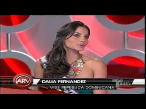 Miss Rep Dominicana Dalia Fernandez en Al Rojo Vivo