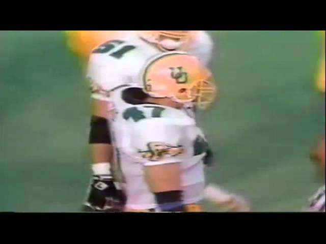 Oregon LB Andy Conner breaks up a screen pass vs. Texas Tech 9-14-1991