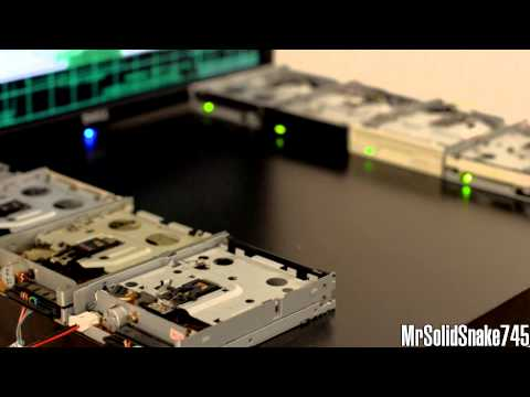 Airwolf Theme On Eight Floppy Drives video