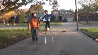 5yo Testing out new stilts