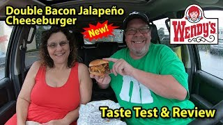 Wendy's® | Double Bacon Jalapeño Cheeseburger 🥓🌶️🧀 | Taste Test & Review | JKMCraveTV