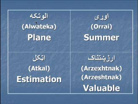 Pashto English Vocabulary Pashto Vocabulary Part 1
