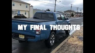 My Final Thoughts On The 2019 Toyota Tacoma