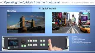 QuickVu - QVU150-3G Training Video: control from front panel