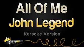 Karaoke All Hits All Of Me In The Style Of John