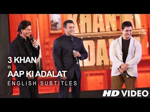 Shah Rukh KHAN, Salman KHAN & Aamir KHAN - 21 Years Of AAP KI ADALAT (English Subs) thumbnail