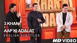 Shah Rukh KHAN, Salman KHAN & Aamir KHAN - 21 Years Of AAP KI ADALAT (English Subs)