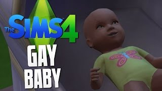 The Sims 4 - GAY BABY - The Sims 4 Funny Moments #10
