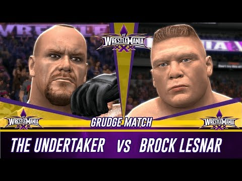 Wwe 2k14 Wrestlemania 30 The Undertaker Vs Brock Lesnar (simulation) video