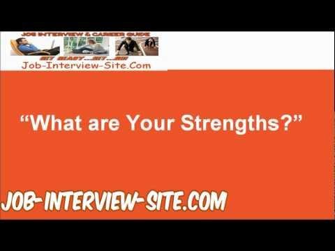 interview answers strengths