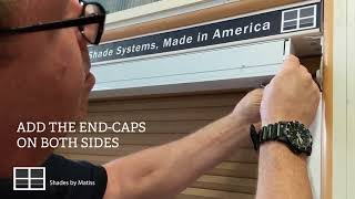 How to install a motorized bottom up shade