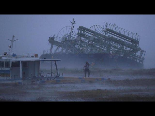 Typhoon batters Southern Japan