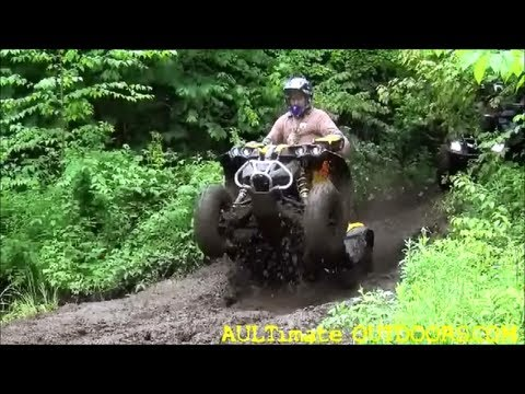ATV MUDDING WITH A SURPRISE! NEWTON FALLS NY GOOD TIMES!