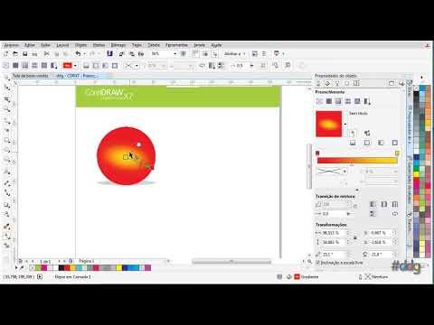 CorelDRAW X7 - Preenchimento de Objetos #dicasdogreb