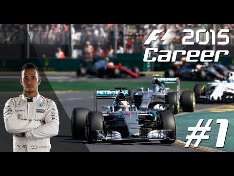 F1 2015 LEWIS HAMILTON Career Mode - PART 1 Australian Grand Prix