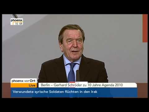Gerhard Schröder zur Agenda 2010 am 11.03.2013