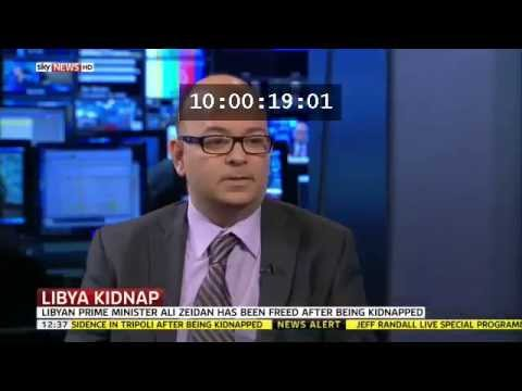 14 October 2013 Olivier Guitta speaks to Sky News about the kidnapping of Ali Zeidan