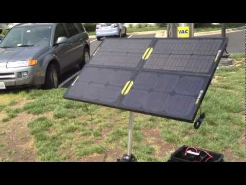 Emergency Solar Generator with Goal Zero Boulder 15 Panels