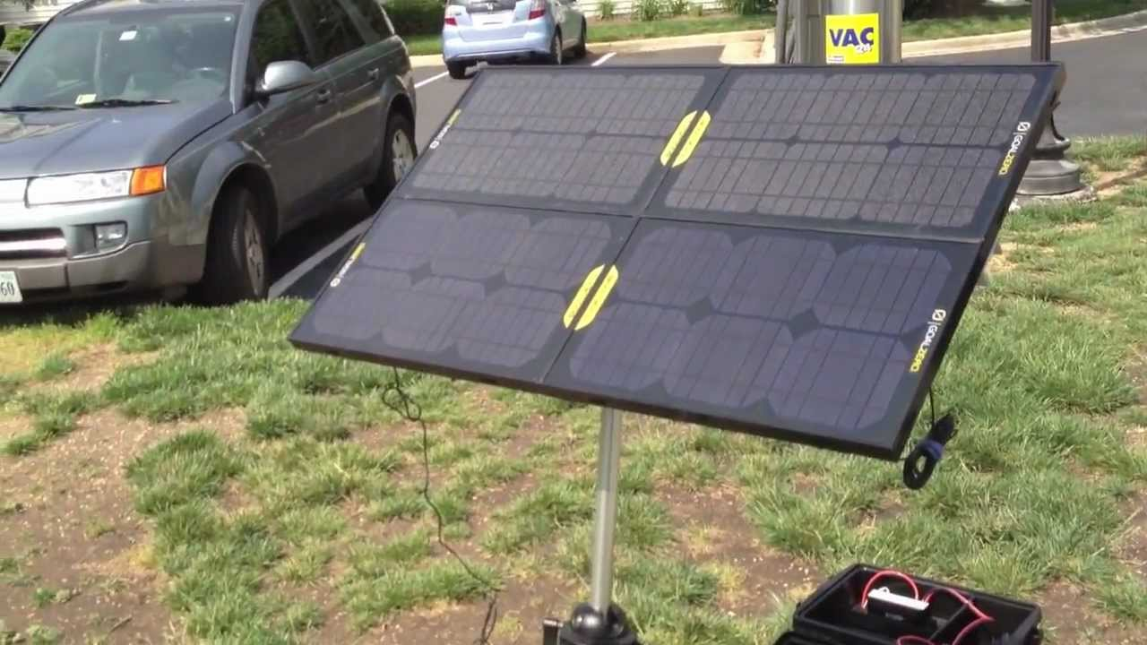 Emergency Solar Generator With Goal Zero Boulder 15 Panels