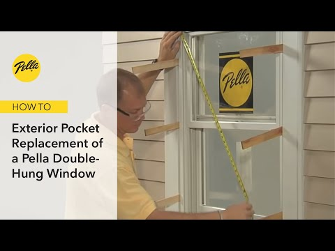 Window Installation: Proper Exterior Pocket Replacement for Double-hung Pella® Windows