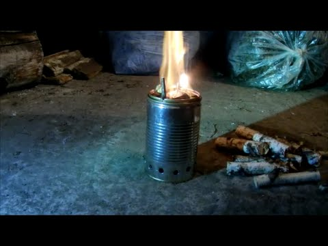 Видео печь щепочница