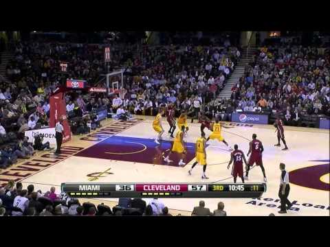NBA 20.03.2013 Miami Heat @ Cleveland Cavaliers 98:95 greatest 27 points comeback (all points HD)