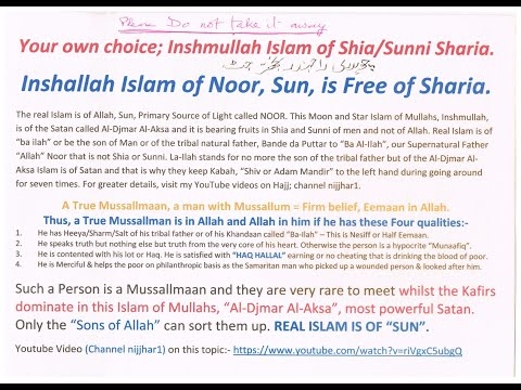 Real Islam is Shariah Free, a Liberator in Love and service Preached by Christs Jesus and Nanak.