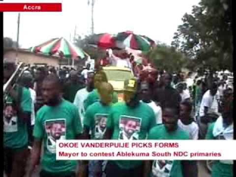 News360 - NDC primaries - Accra Mayor, Okoe Vanderpuije picks up forms - 2/9/2015