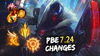 BIG ADC KEYSTONE Changes & Morgana/Zyra mini-reworks! PBE 7.24 Changes (League of Legends)