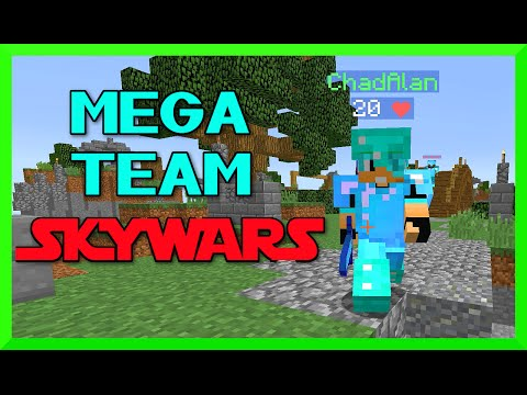 Minecraft - Mega Team SKYWARS with Gamer Chad - Enchanted Diamond Bling