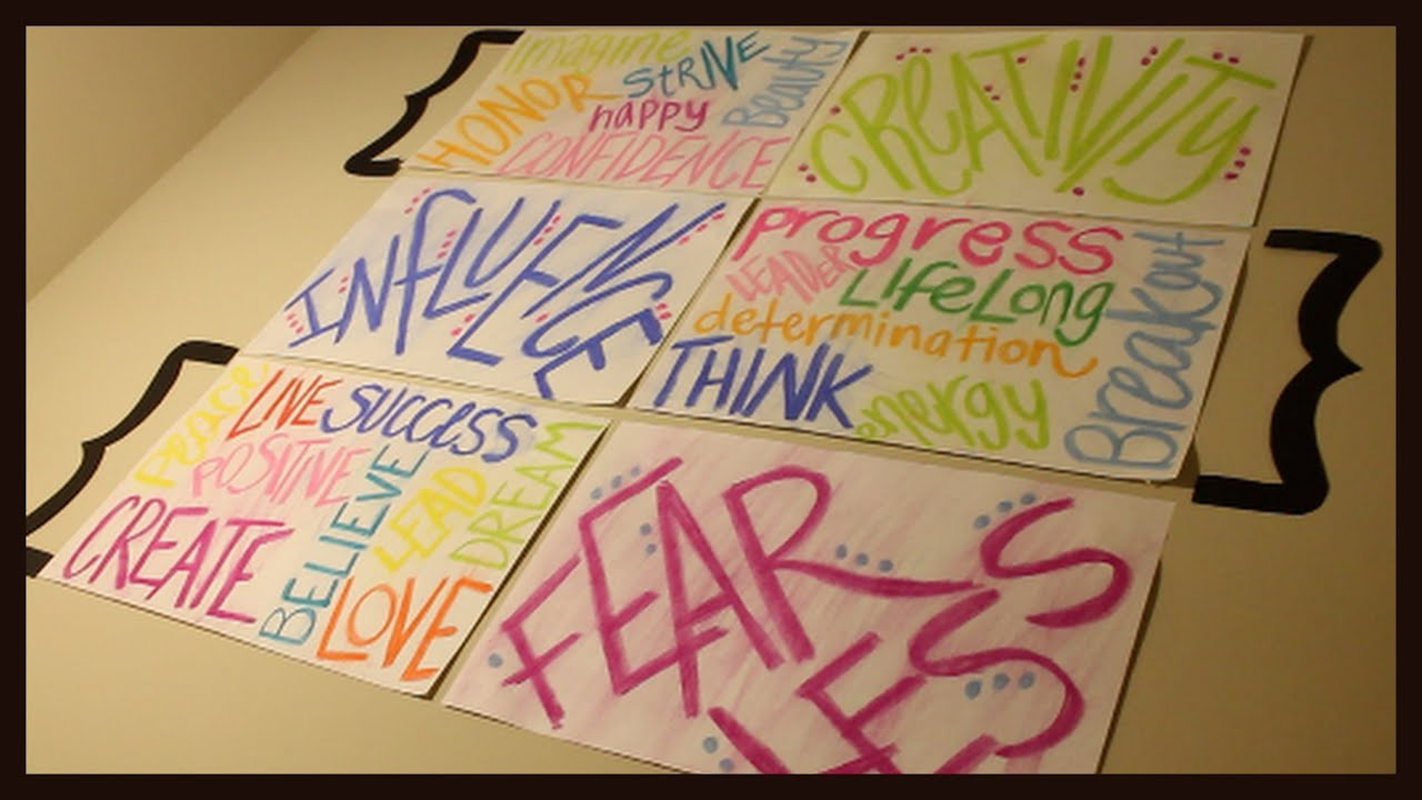 DIY Motivational Wall Posters - YouTube