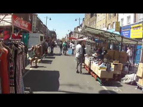 Walking through Chapel Street Market, Angel, Islington, London - on market days' & non market day