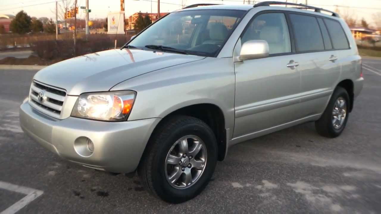 2004 toyota highlander v6 4x4 for sale moon roof alloys cd youtube. Black Bedroom Furniture Sets. Home Design Ideas