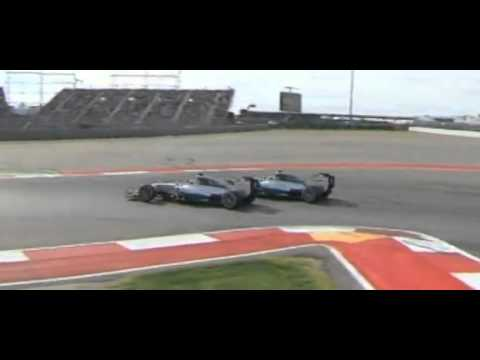 F1 2014 American GP - Hamilton great overtake Rosberg
