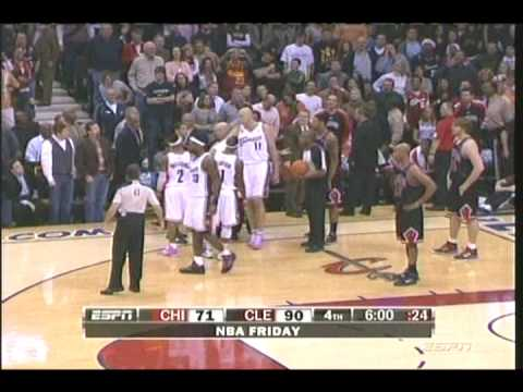 LEBRON FIGHTS JOAKIM NOAH...AND STOP DANCING Y'ALL OUT THE PLAYOFFS GO PLAY FOR THE BULLS NIGGA! Video