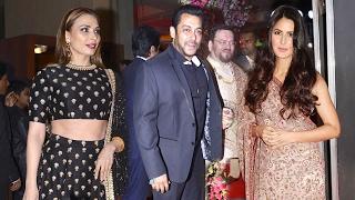 Salman Khan's New Girlfriend Iulia & Ex GF Katrina Kaif At Neil Nitin Mukesh Wedding Reception