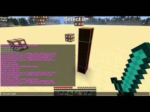 Minecraft worldedit how to create brushes tutorial how for Terraform gui