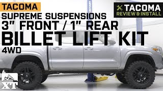 """Tacoma Supreme Suspensions 3"""" Front / 1"""" Rear Pro Billet Lift Kit (2005-2019) Review & Install"""