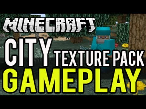Minecraft (PS3 and Xbox 360) Texture Pack Gameplay - City Texture Pack