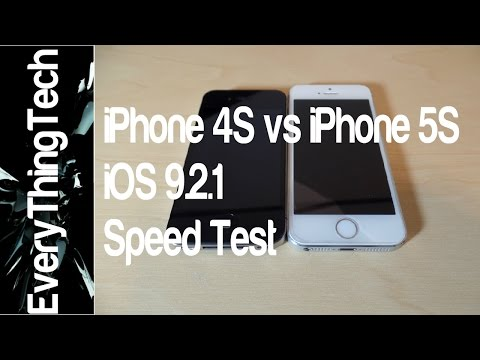 iPhone 4s vs iPhone 5s iOS 9.2.1 Speed Test