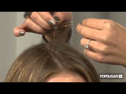How To Apply Hair Tinsel Youtube
