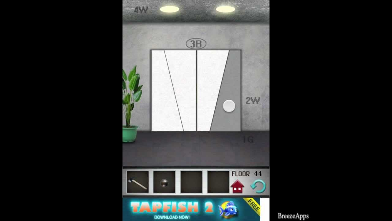 100 floors level 44 walkthrough 100 floors solution floor for Floor 4 100 floors
